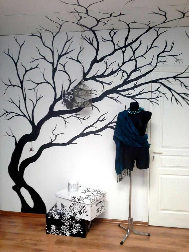 Painted Tree Wall Murals Wwwpixsharkcom Images, Painted Trees On for Well known Painted Trees Wall Art