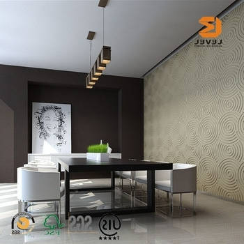 Painting 3D Wall Panels Inside Recent Room Interior Mdf Wall Decoration Paneling Uv Painting 3D Wall (View 12 of 15)