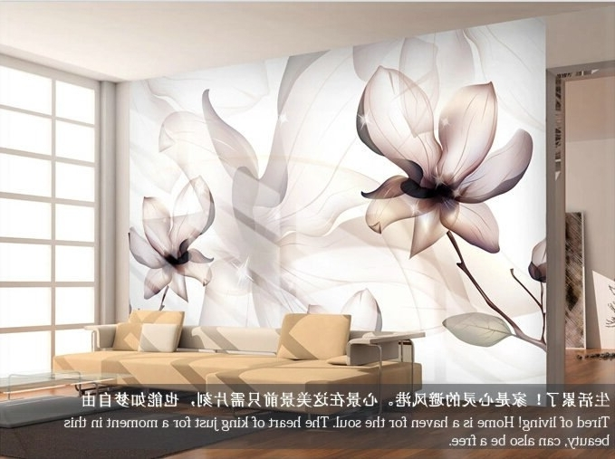 Painting 3D Wall Panels Pertaining To Popular Brief Modern Tv Background Wallpaper Sofa Simple And Elegant Walls (View 10 of 15)