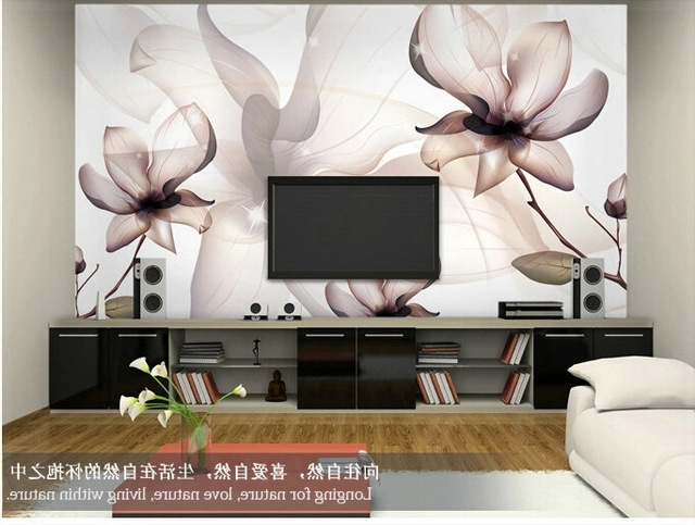 Painting 3D Wall Panels Throughout Popular Brief Modern Tv Background Wallpaper Sofa Simple And Elegant Walls (View 7 of 15)