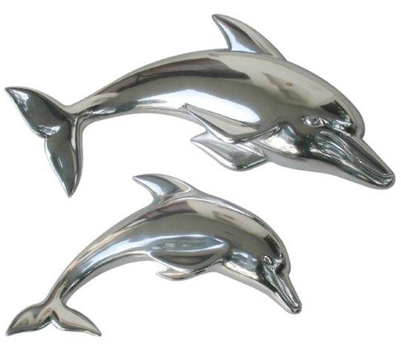 Pair Of Dolphins – Wall Art – Wowpieces With Well Known Dolphin Metal Wall Art (View 3 of 15)