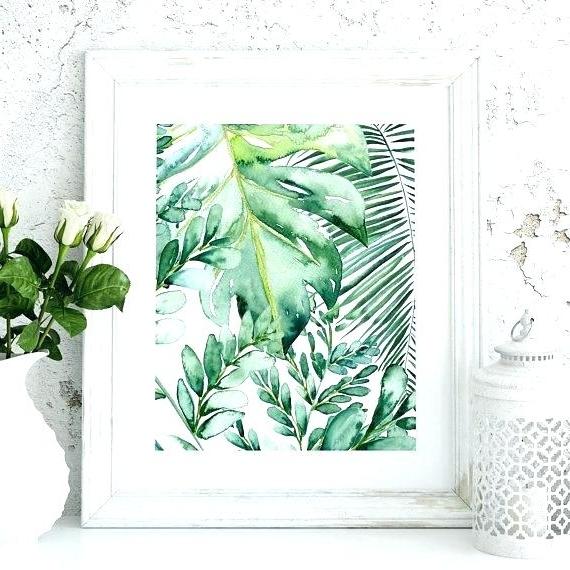 Palm Leaf Wall Art Throughout Popular Leaf Wall Art – Trungso (View 8 of 15)
