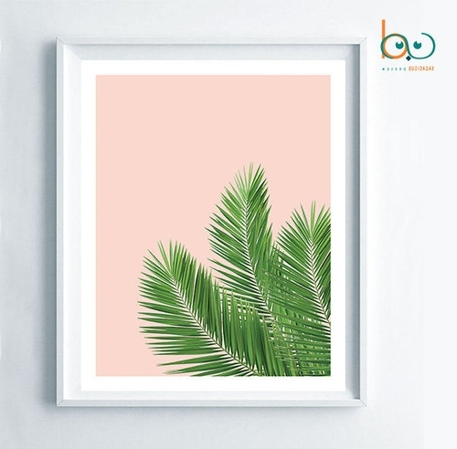 Palm Leaf Wall Decor Throughout Latest Tropical Print, Palm Leaf Digital, Woman Gift Palm, Home Decor Palm (View 6 of 15)