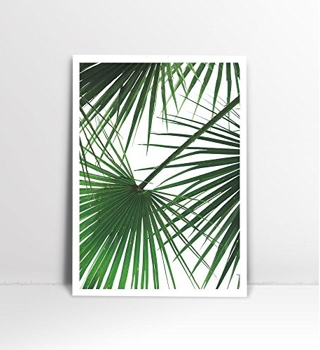 Palm Leaf Wall Decor With Fashionable Tropical Leaf Print, Palm Tree Print, Palm Leaf Print, Palm Tree Art (View 8 of 15)
