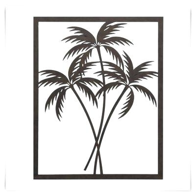 Palm Tree Metal Art Palm Tree Metal Wall Art Palm Tree Metal Artwork Pertaining To Newest Palm Tree Metal Art (View 9 of 15)