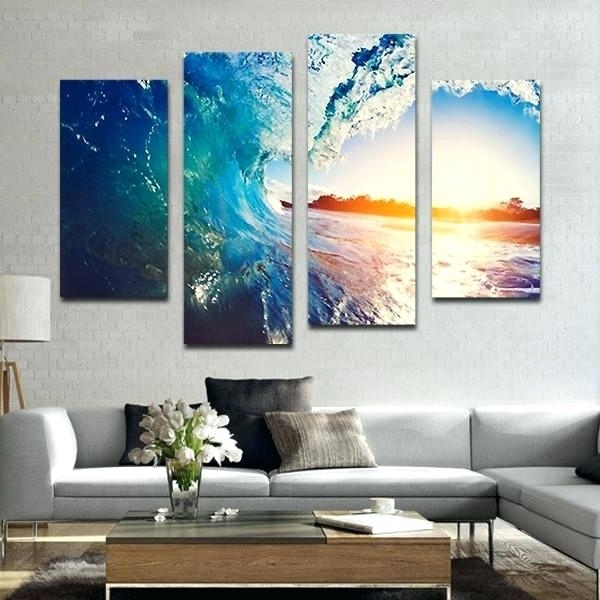 Panel Canvas Wall Art The Wave Multi Panel Canvas Wall Art Wine Throughout Widely Used Multi Panel Canvas Wall Art (View 13 of 15)