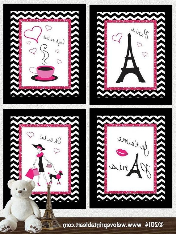 Paris Decor Baby Girl Nursery Decor, Art Print, Girls Room Decor Intended For Well Known Paris Theme Nursery Wall Art (View 3 of 15)