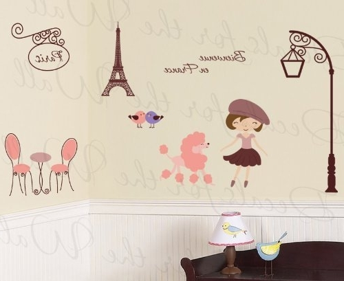 Paris Theme Nursery Wall Art Regarding 2018 Decals For The Wall Stickers: Paris France Trendy French Eiffel (View 7 of 15)