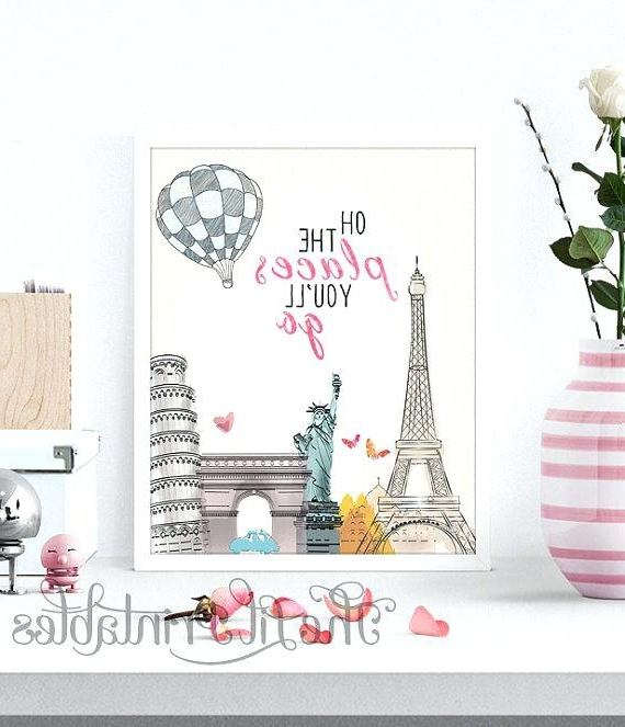 Paris Theme Wall Art With Newest Paris Wall Decor Art Theme Best Ideas On Themed – Daniellemorgan (View 8 of 15)