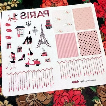 Paris Themed Stickers Regarding 2018 Paris Suatelier Stickers – 1 Sheet – From Xsugarhuix On Etsy (View 8 of 15)