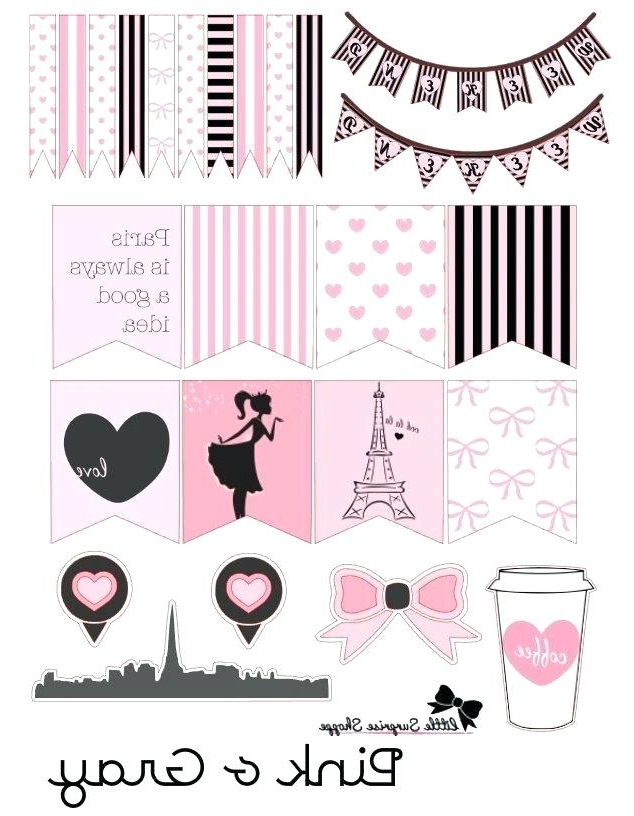 Paris Themed Stickers Themed Weekly Spread Stickerson Paris With Fashionable Paris Themed Stickers (View 9 of 15)