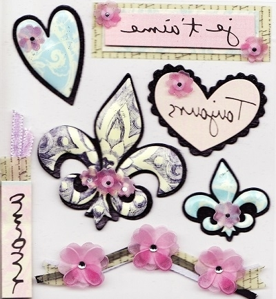 Paris Themed Stickers Within Popular Jolee 39 S Boutique Themed Stickers Paris At – Boutique Scrapbooking (View 11 of 15)