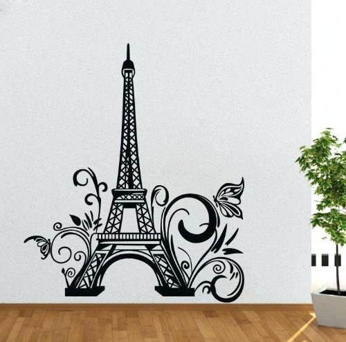 Paris Themed Wall Art Inside Newest Paris Wall Decal Decals Wall Art Tall Tower Wall Decal Huge City (View 6 of 15)
