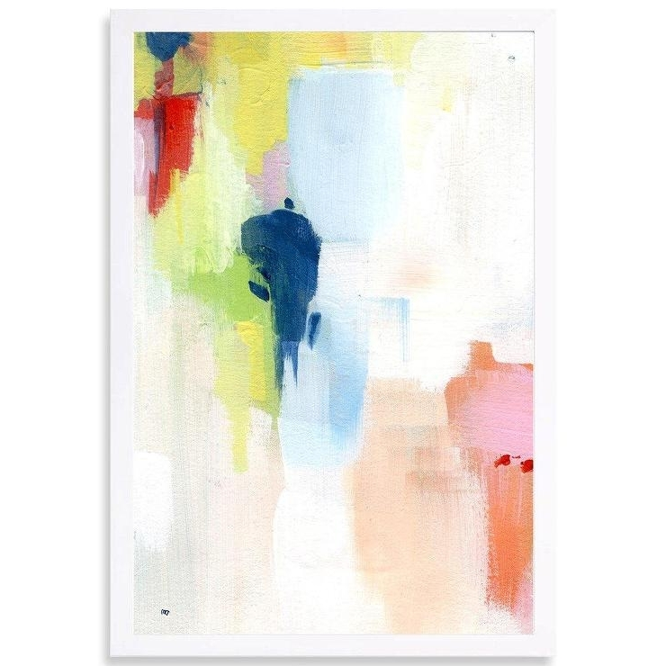 Pastel Abstract Wall Art For Fashionable Sidewalk Abstract Pastel Graphic Art (View 10 of 15)