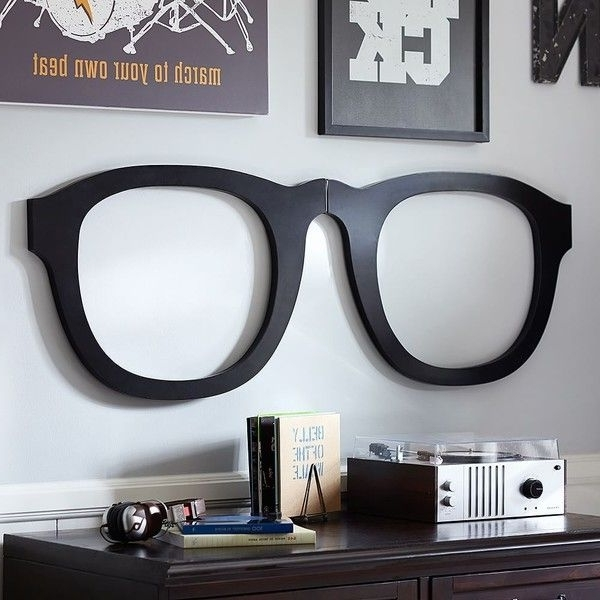 Pb Teen 3D Glasses Wall Decor, Black At Pottery Barn Teen – Teen Pertaining To Most Up To Date 3D Glass Wall Art (View 8 of 15)