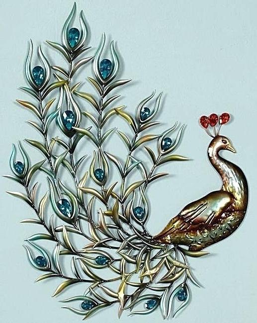 Peacock Metal Wall Art – Dannyjbixby In Well Known Metal Peacock Wall Art (View 8 of 15)