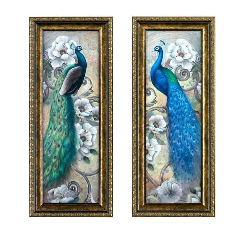 Peacock Wall Art Wall Art Peacock Wall Art Decals Peacock Wall Art With Most Up To Date Jeweled Peacock Wall Art (View 13 of 15)