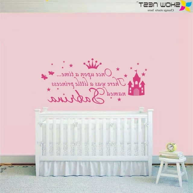 Personalized Name Once Upon Superb Baby Girl Wall Decor – Wall In Well Known Little Girl Wall Art (View 10 of 15)