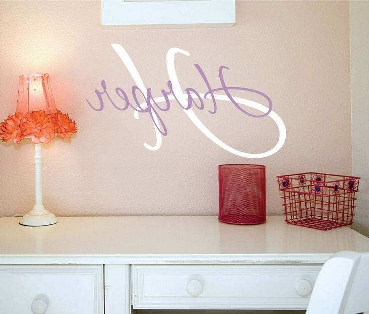 Personalized Name Wall Art Decals Nursery Decal Girls Best Name Wall Throughout Popular Personalized Wall Art With Names (View 6 of 15)