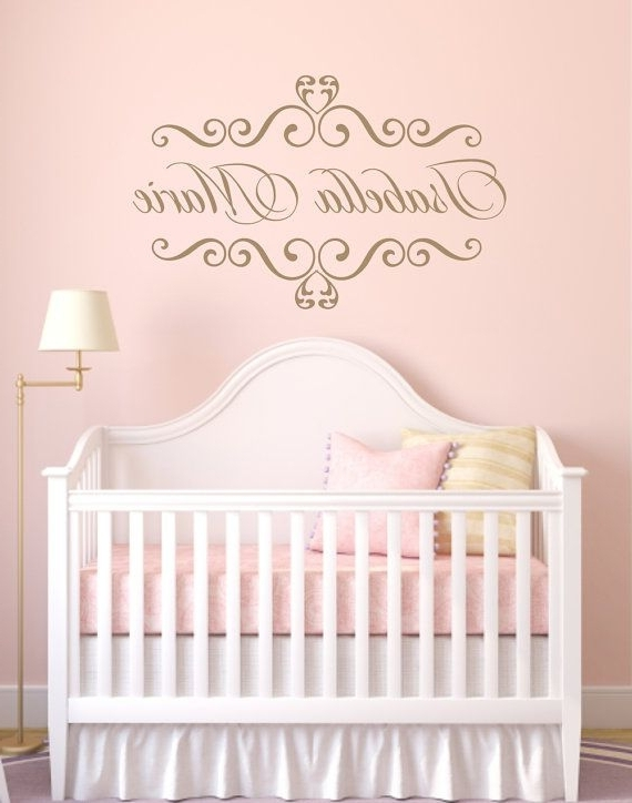 Personalized Wall Decals For Kids Rooms Personalized Baby Nursery With Regard To Best And Newest Personalized Nursery Wall Art (View 6 of 15)
