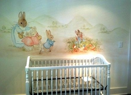 Peter Rabbit Nursery Wall Art Decor Bunny Wallpaper Border With Famous Peter Rabbit Wall Art (View 7 of 15)