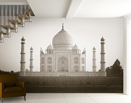 Photo Wall Mural Taj Mahal Wallpaper Wall Art Wall Decor Dome Regarding Most Recently Released Taj Mahal Wall Art (View 2 of 15)
