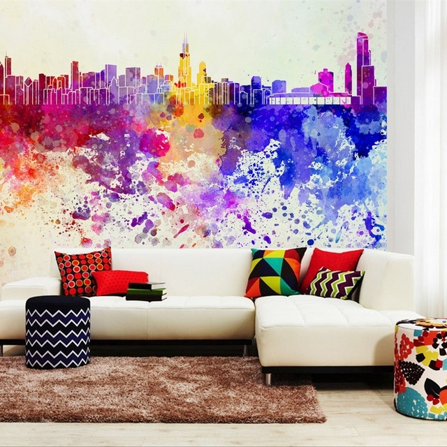 Photo Wallpaper Abstract Art Wall Mural Non Woven Modern Charm Pertaining To Most Current Abstract Art Wall Murals (View 14 of 15)