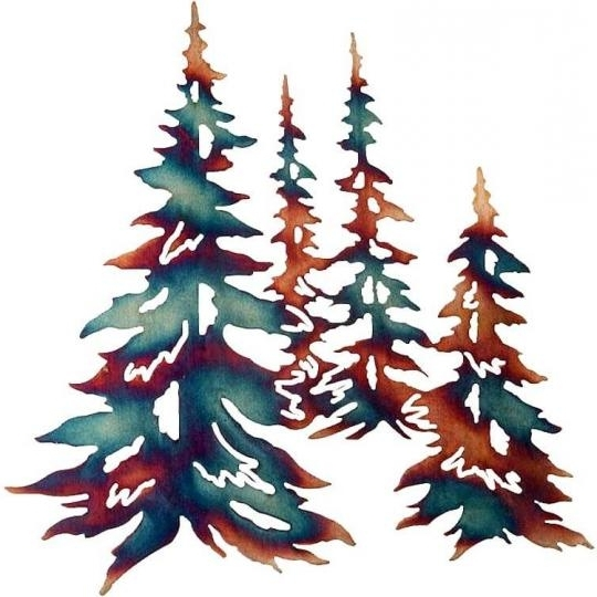 Pine Forest Metal Wall Art: Cabin Place Intended For Favorite Pine Tree Metal Wall Art (View 6 of 15)