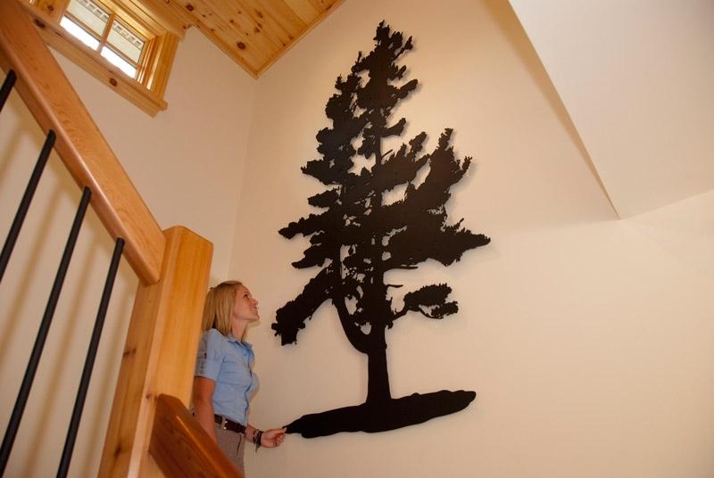 Pine Tree Wall Art Regarding Widely Used Pine Tree – Custom Laser Cut Metal Art (View 4 of 15)