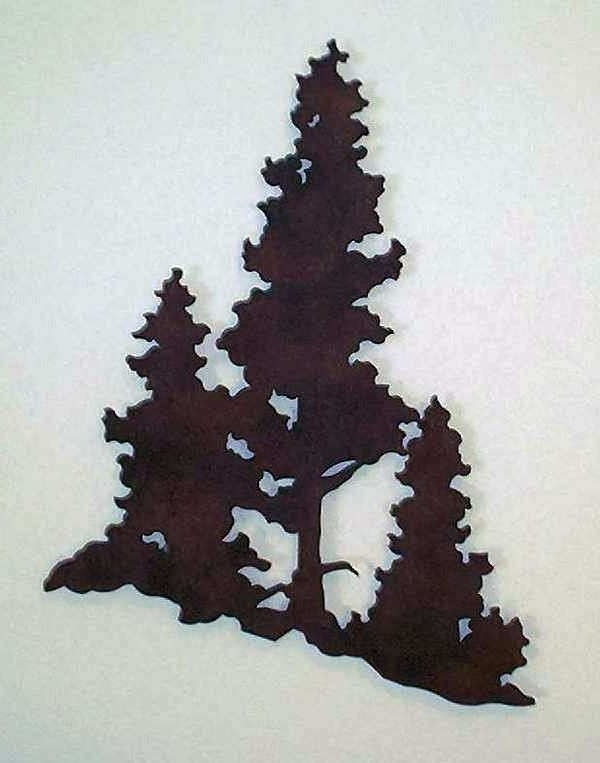 Pine Tree Wall Art With Regard To Well Liked Metal Pine Tree Wall Art New Metal Forest Metal Art (View 13 of 15)