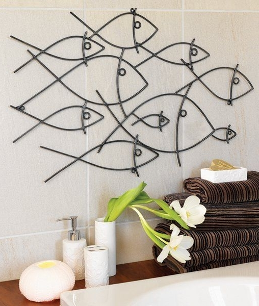 Featured Photo of Metal Wall Art For Bathroom