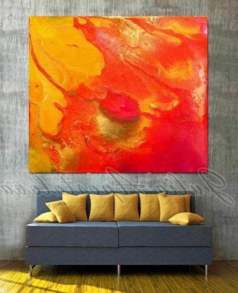 Pinterest The Worlds Catalog Of Ideas, Orange Wall Art – Swinki Morskie Inside Trendy Abstract Orange Wall Art (View 14 of 15)