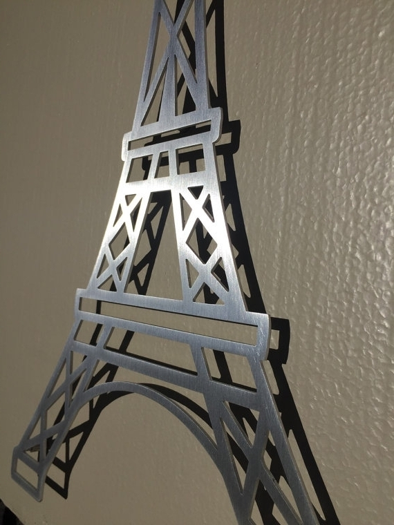 Pleasurable Ideas Eiffel Tower Wall Art Cool Metal Decorations Pertaining To Widely Used Metal Eiffel Tower Wall Art (View 10 of 15)