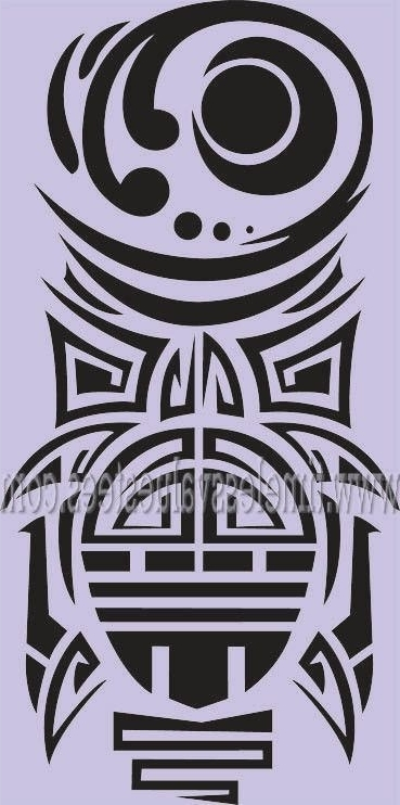 Polynesian Wall Art In 2017 Turtle Totem Pole Tiki Ethnic Tattoo Tortoise Polynesian Wall Art (View 5 of 15)