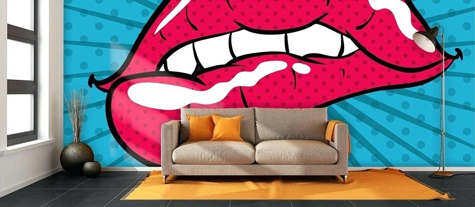 Pop Art Wall Paper Retro Pop Art Bespoke Wallpaper Pop Art Wallpaper Intended For Famous Pop Art Wallpaper For Walls (View 4 of 15)