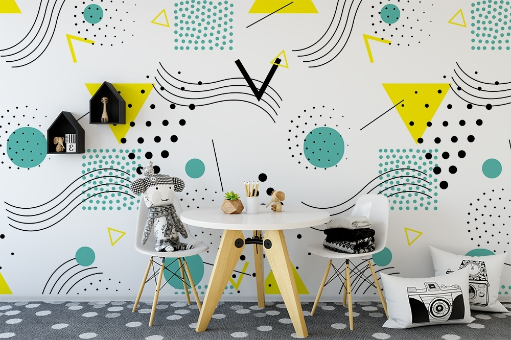 Pop Art Wallpaper For Walls In Well Liked Pop Art Design Repositionable Wallpaper – Moonwallstickers (View 5 of 15)
