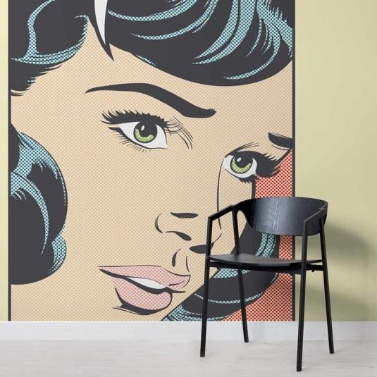 Pop Art Wallpaper For Walls With Favorite Pop Art Wallpaper & Wall Murals (View 8 of 15)