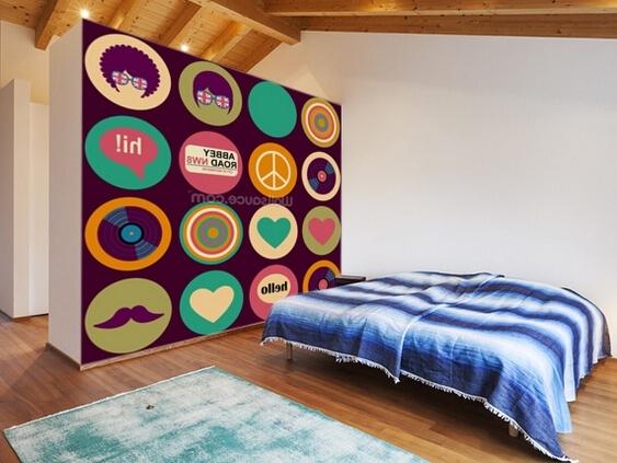 Pop Art Wallpaper For Walls With Regard To Recent Custom Art Wallpaper,pop Art British Musical Pattern,3D Retro (View 14 of 15)
