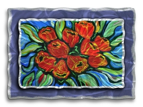 Poppy – Floral Metal Wall Art Decor From All My Walls With Regard To Most Up To Date Metal Poppy Wall Art (View 9 of 15)