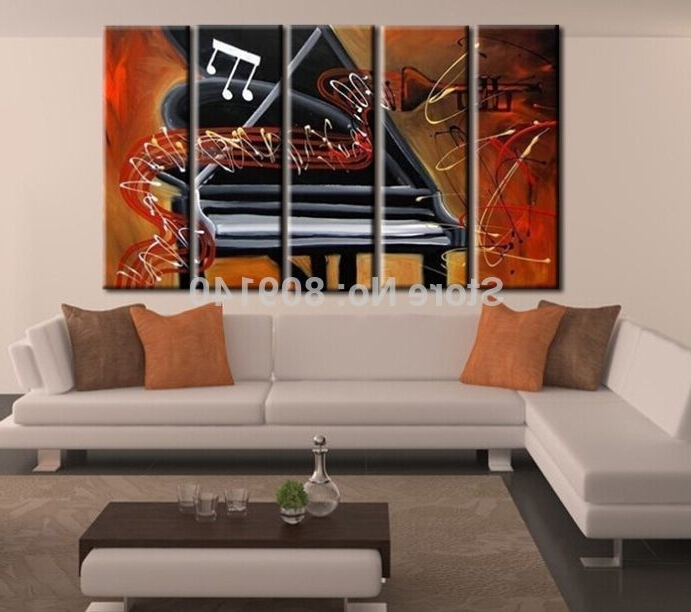 Popular 2018 Abstract Piano Music Melody Oil Painting Canvas Artwork High Intended For Abstract Piano Wall Art (View 11 of 15)