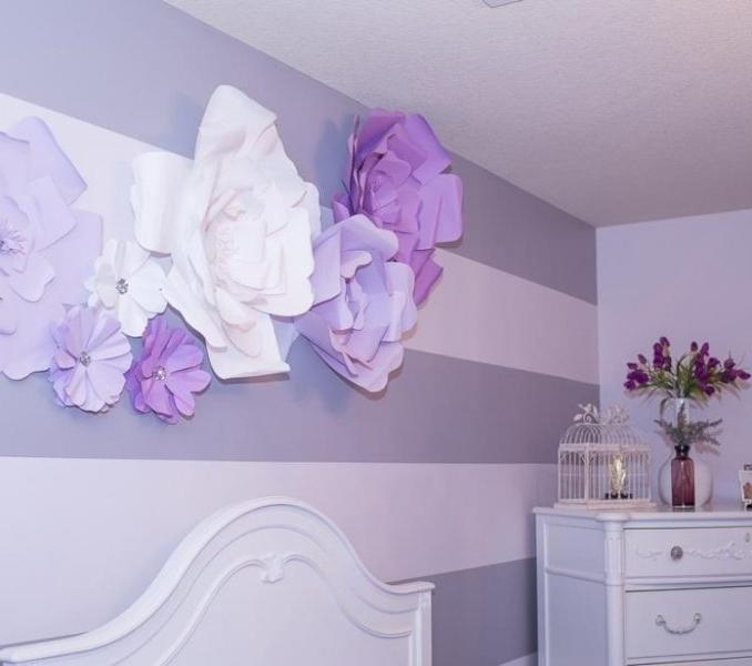 Popular 3D Flower Wall Art Throughout 3D Flower Wall Decor : Interior – Yayasanharum (View 14 of 15)