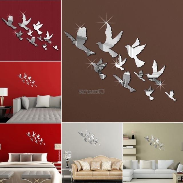 Popular 3D Wall Art Etsy 3D Wall Sticker Etsy 3D Wall Decals Flowers In 3D Wall Art Etsy (View 12 of 15)