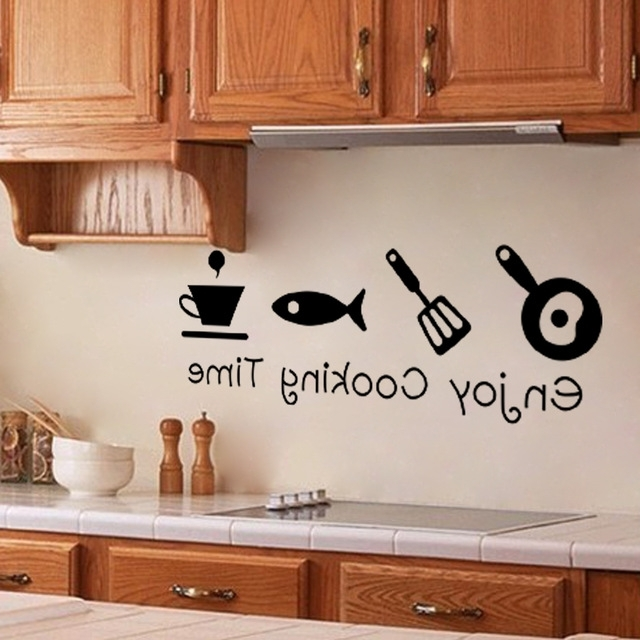 Popular 3D Wall Art For Kitchen With Regard To New Design Creative Diy Wall Stickers Kitchen Decal Home Decor (View 12 of 15)