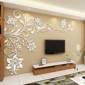 Popular 3D Wall Art For Living Room Regarding 3D Wall Decals & Stickers, Modern Wall Art Decor – Homerises (View 13 of 15)