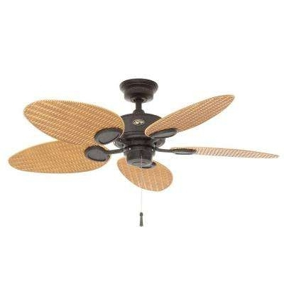 Popular 5 Blades – Southwestern – Outdoor – Ceiling Fans Without Lights Inside Outdoor Ceiling Fans With Palm Blades (View 9 of 15)
