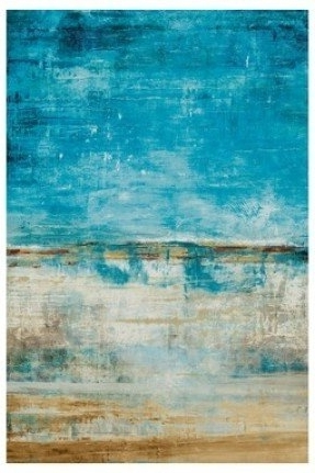 Popular Abstract Beach Wall Art With Regard To Blue Canvas Wall Art Foter Abstract Beach Canvas Art – Nuestro Art (View 11 of 15)