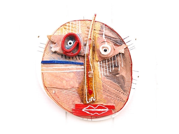 Popular Abstract Ceramic Wall Art With Abstract Ceramic Mask, Wall Art Ceramic (View 10 of 15)