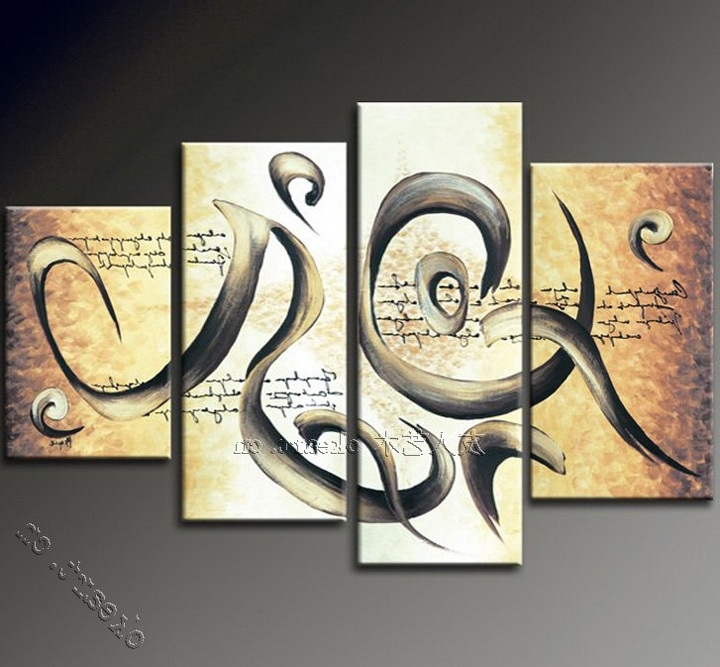 Popular Abstract Oil Painting Canvas Art Sale Music Fashion Modern Wall Within Abstract Music Wall Art (View 14 of 15)