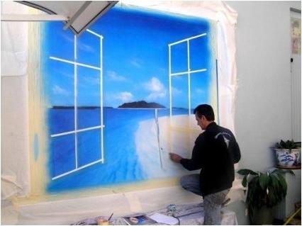 Popular Airbrush Wall Art With Regard To Murals, Trompe Loeil, Wall Murals, Wall Art, (View 12 of 15)