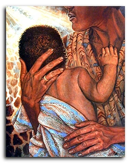 Popular Amazon: Mother With Child African American Wall Decor Art Print Within African American Wall Art (View 13 of 15)